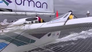 David Graham of Oman Sail on board Musandam Oman Sail in the Rolex Fastnet Race 2015.