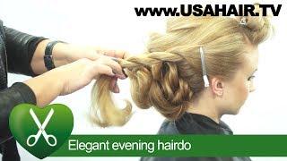 Elegant evening hairdo. parikmaxer TV USA