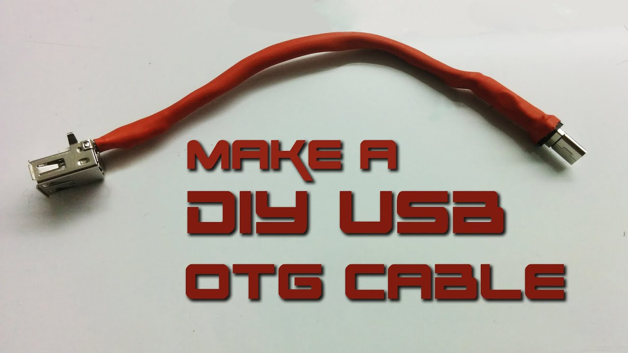 how to make usb otg cable 5 steps with pictures micro usb to db9 [ 1280 x 720 Pixel ]
