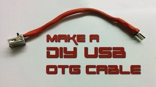 "How to make USB OTG ""On-The-Go"" cable"