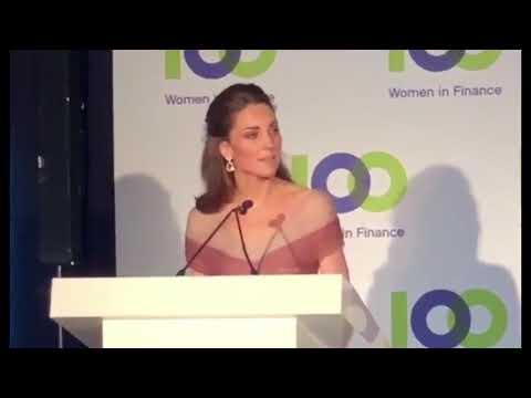 Duchess Of Cambridge Speech At 100 Women In Finance Gala Dinner | V&A Museum 2019