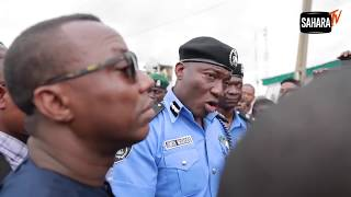 Police Fire Tear Gas At Presidential Aspirant Sowore & Others  during Protest