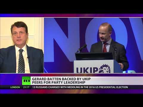New UKIP temporary leader Gerard Batten talks to RT