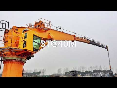 OUCO 3T40M Marine Crane Manufacturer and Factory video