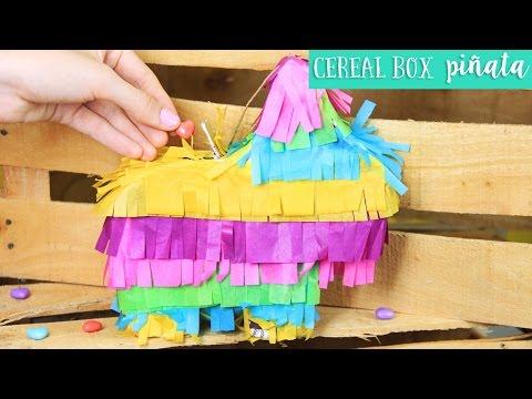 Easy Cereal Box Piñata for 5 de Mayo | DIY ✂️ Craftingeek EN