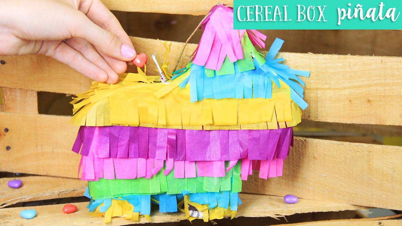 image about Donkey Pinata Template Printable named Basic Cereal Box Piñata for 5 de Mayo Do it yourself ✂️ Craftingeek EN