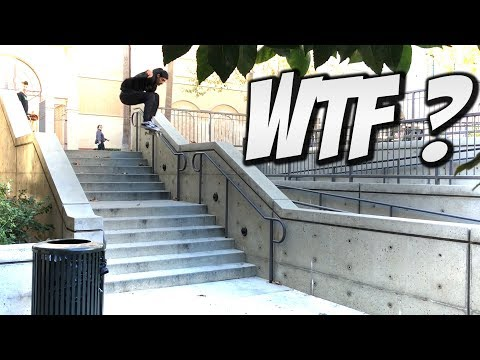 SKATING HUGE STAIR SETS WITH VINCENT LUEVANOS & FRIENDS !!! - NKA VIDS -