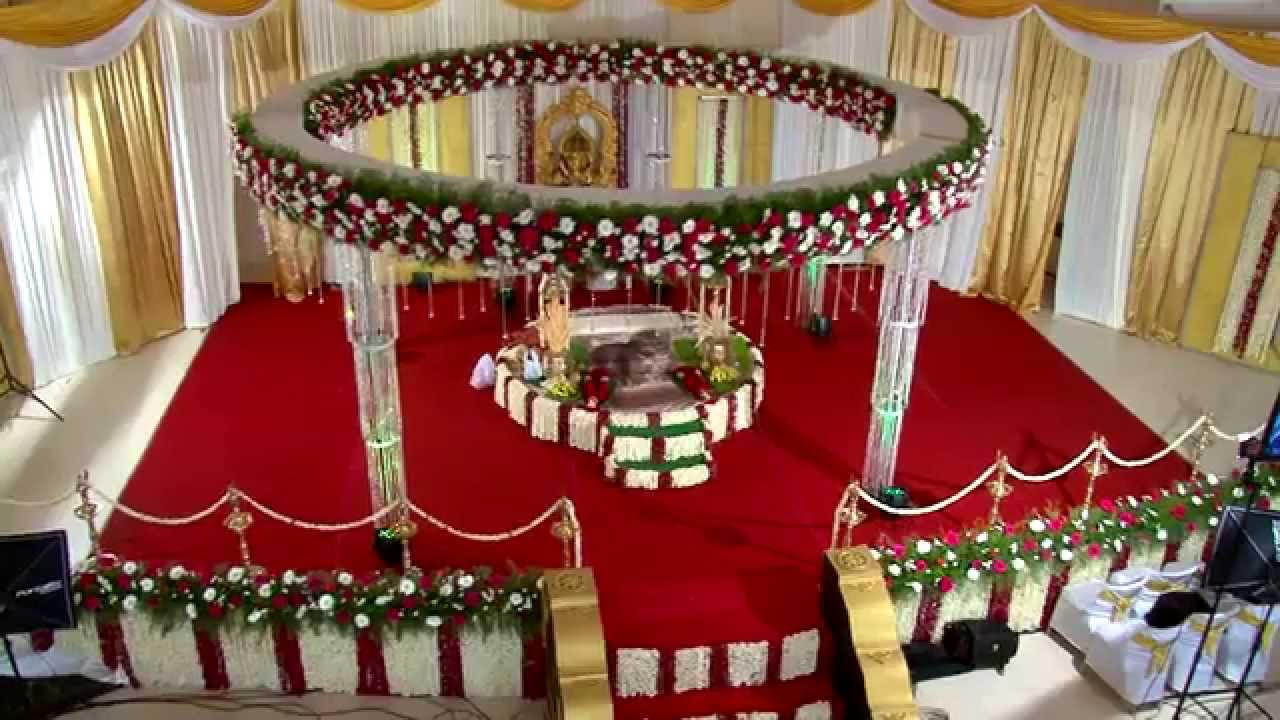 Hindu wedding stage decoration in trivandrum rdr auditorium by hindu wedding stage decoration in trivandrum rdr auditorium by happy weddings youtube junglespirit Gallery