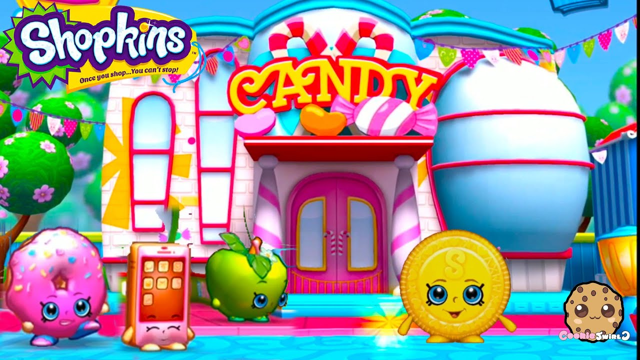 Play Welcome To Shopville Shopkins App Game Candy Bag