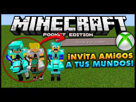 COMO INVITAR/JUGAR CON AMIGOS EN TU MUNDOS! (Xbox Live) - Minecraft PE (Pocket Edition) Tutorial