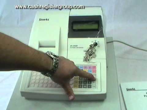 Sam4s ER 390M Cash Register - First time use installation video.
