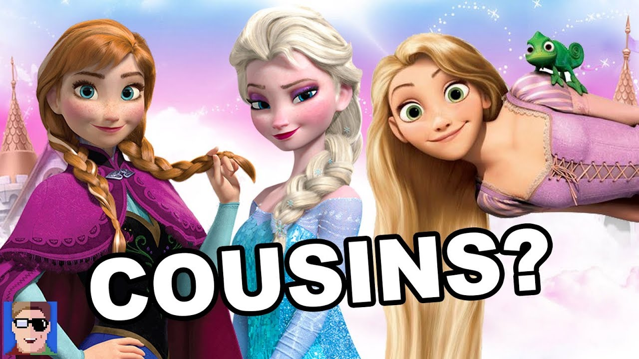 frozen theory rapunzel is anna amp elsas cousin youtube