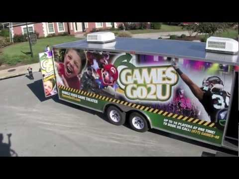 Game Truck Franchise Mobile Video Game Theater Games Go2U
