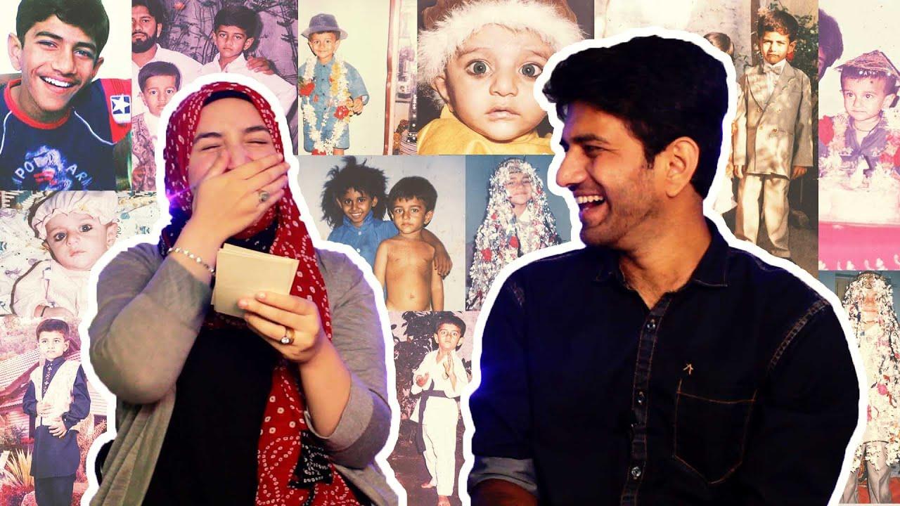 ردة فعلي علي صور طفولة زوجي الهندي | فضاايح افضل | Reacting on Indian husband childhood pictures