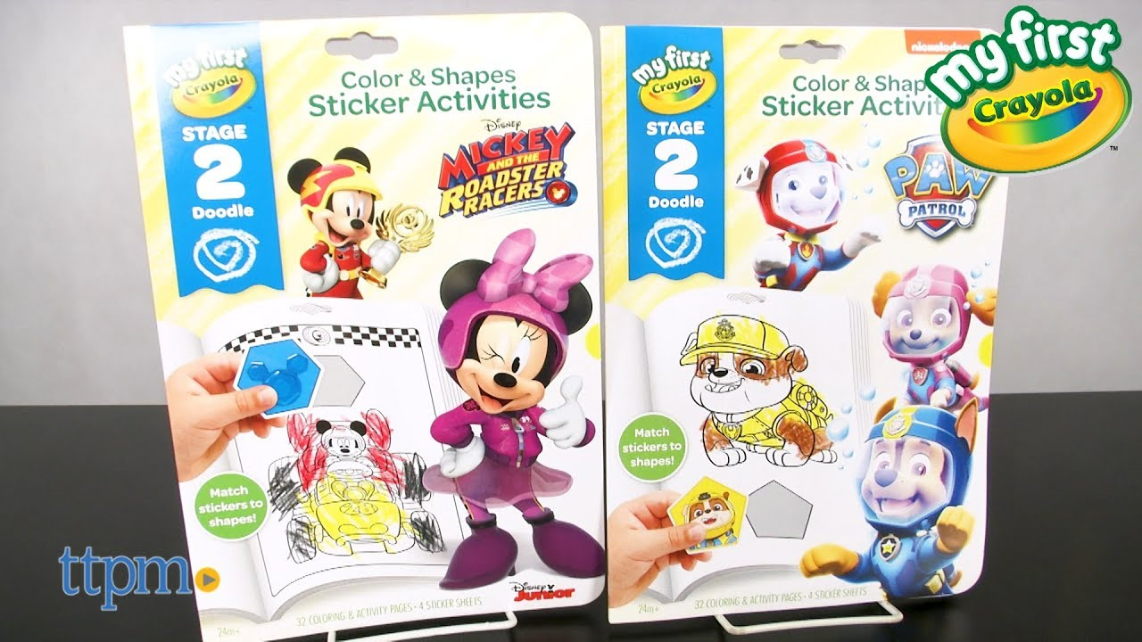 My First Crayola PAW Patrol Color Shapes Sticker Activities From