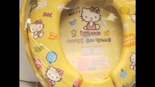 Hello Kitty Baby Children Kids Potty Training Auxiliary Toilet Seat Cover Sanrio