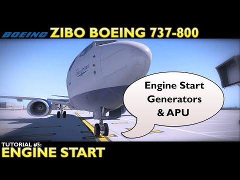 X-Plane 11 : Zibo Boeing 737-800 : Tutorial 5 Startup Engine Start