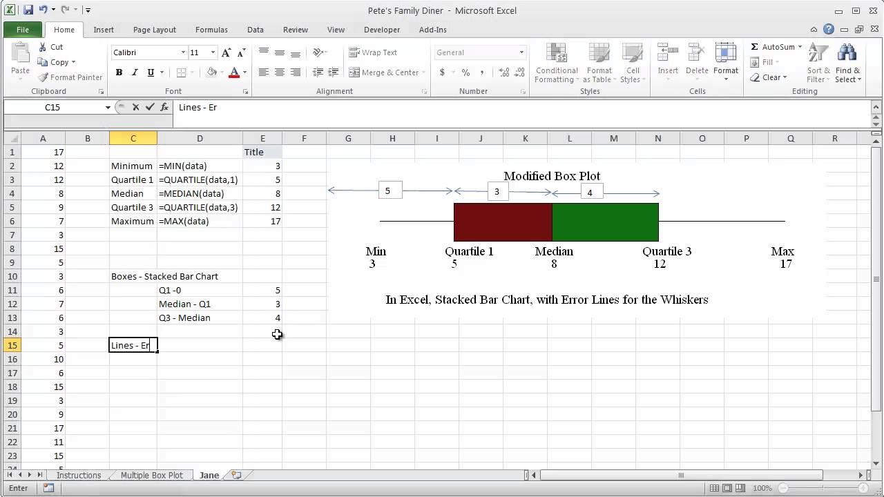 unit 1c  excel - modified box plot - full demonstration