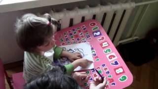 Окончание урока рисования с Викой 17/07/2016