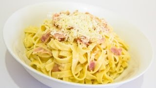 How To Make Fettuccine Carbonara - Video Recipe