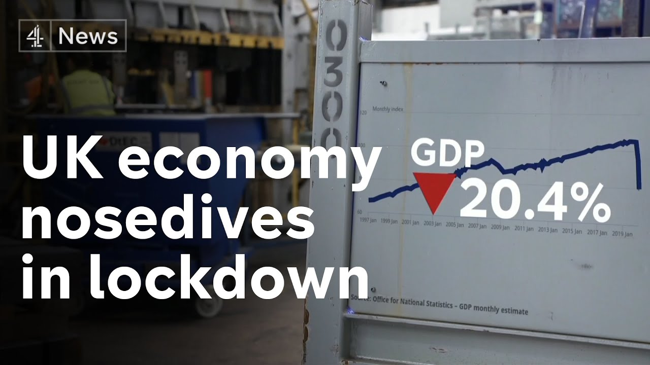 Uk Economy Shrinks By Record 20 Per Cent In April As Lockdown Hits Business Youtube