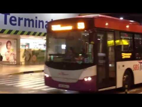 SBS Transit Scania K230UB Bus service 53 Departing Changi Airport Terminal 3.