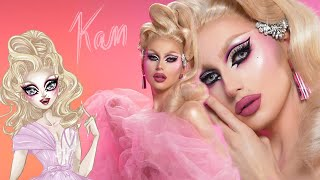 💕Kam Hugh's Signature Drag Makeup | #frenchqueen