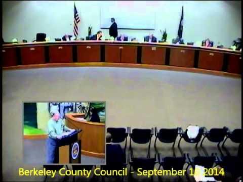 Berkeley County Council Committee Meeting - Septebmer 8, 2014