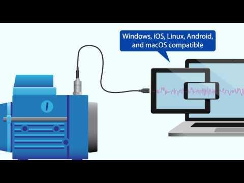 Digiducer - USB Digital Accelerometer - Animated