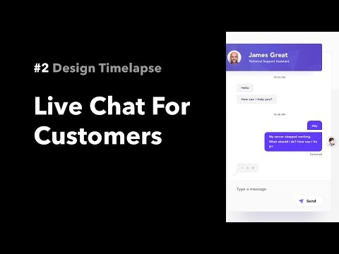 Live Chat For Customers #2 Design Timelapse