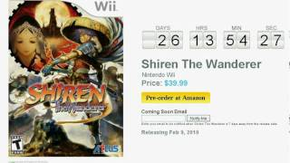 Shiren The Wanderer Wii Countdown