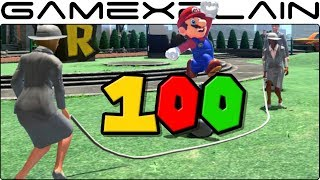 Super Mario Odyssey - How to Score 100 Points in Jump Rope & Volleyball (Tips + 2P Cheat)