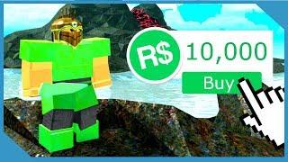 Gastando 10.000 Robux para desbloquear la armadura esmeralda - Roblox Booga Booga