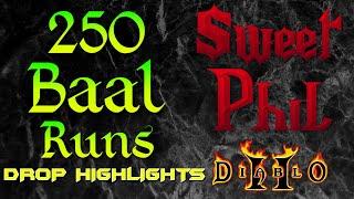 Diablo 2 - 250 Baal Runs Project Drop Highlights Sweet Phil