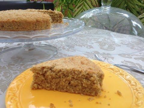 Vainilla Oatmeal Sponge Cake With Stevia