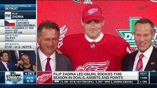 Detroit Red Wings Select Filip Zadina 6th Overall (2018 Draft)