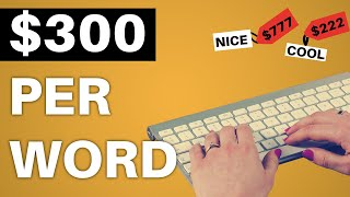 MAKE $300 PER DAY TYPING A COUPLE WORDS (Make Money Online)