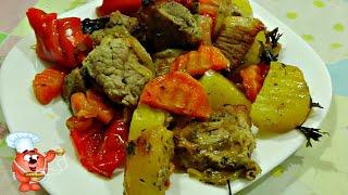Картошка с мясом в духовке простой рецепт