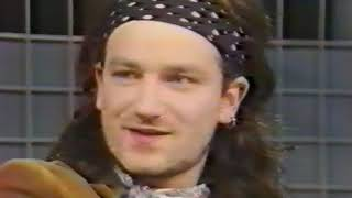 U2 Woman Fish +  I Trip Through Your Wires + Knockin' on heavens door Live TV-Gaga 30 jan 1986