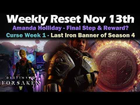 Weekly Reset Nov 13th - Exotic Quest Reward - Iron Banner - Destiny 2 Forsaken thumbnail