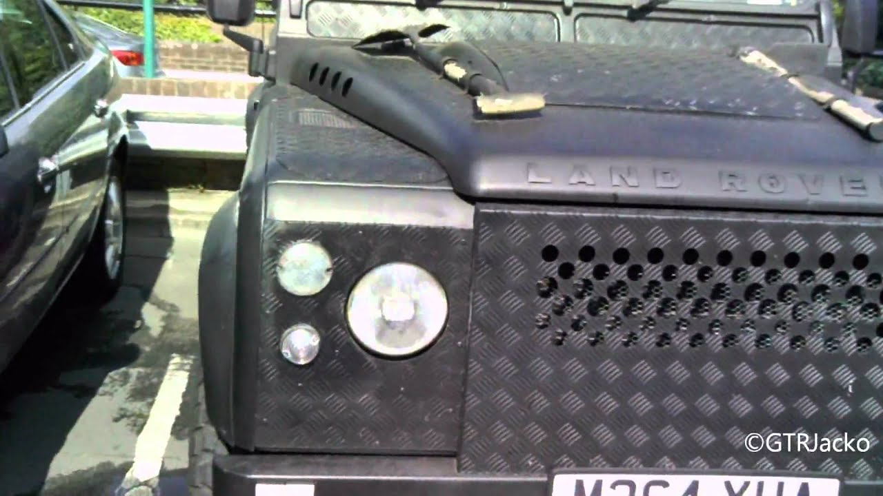 Matte Black Armoured Land Rover Defender Youtube