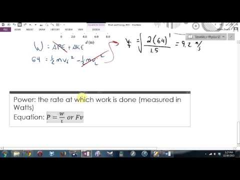 Physics 12 Work and Energy Tutorial 2013