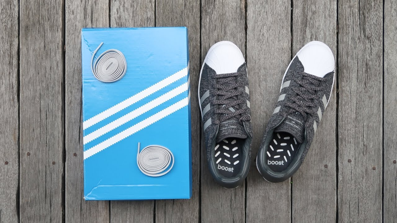 best website 04e82 5b5bd ADIDAS SUPERSTAR WHITE MOUNTAINEERING | unboxing - overview & on-feet!!