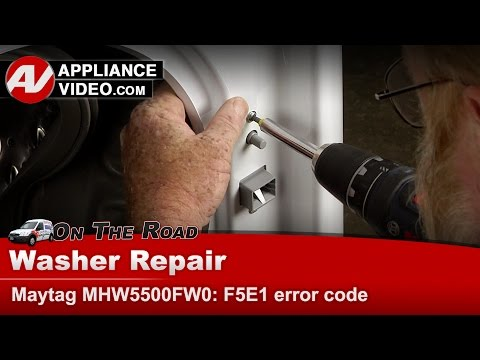 Maytag, Whirlpool & Kenmore washer - Has F5 E1 Error codes - Repair & Diagnostics
