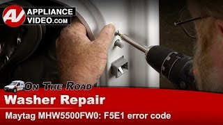 maytag whirlpool kenmore washer has f5 e1 error codes repair diagnostics