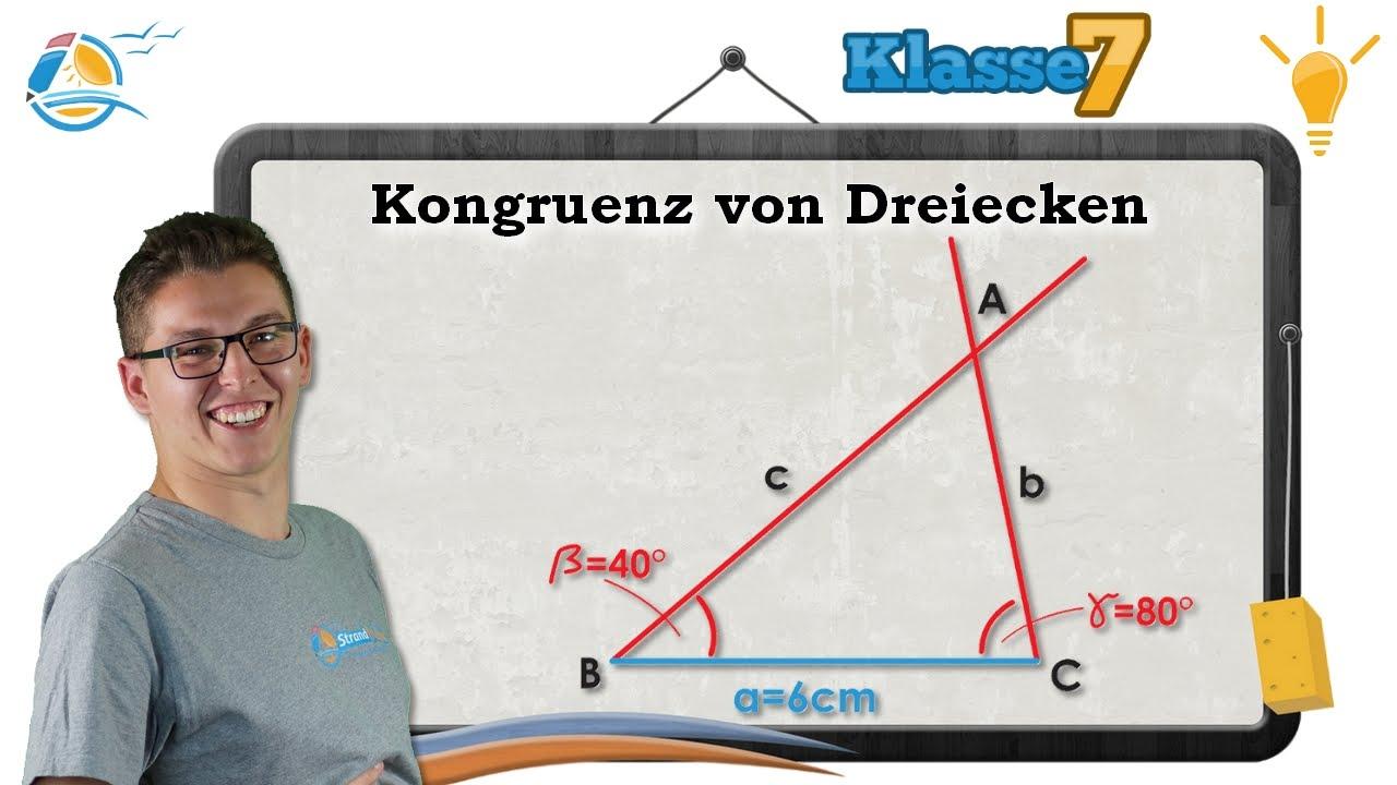Kongruenz von Dreiecken || Klasse 7 ☆ Wissen - YouTube