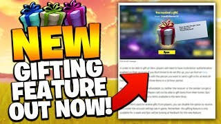 How To Gift items In Fortnite Battle Royale (NEW GIFTING SYSTEM UPDATE v6.31)
