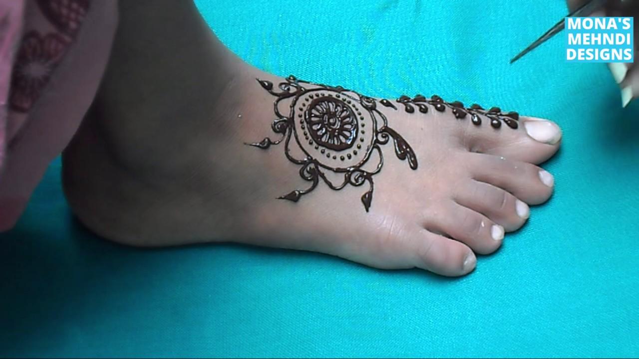 Floral Simple Foot Kids Mehandi Design New Foot Mehandi Design 2017 Girls Foot Eid Mehndi Art