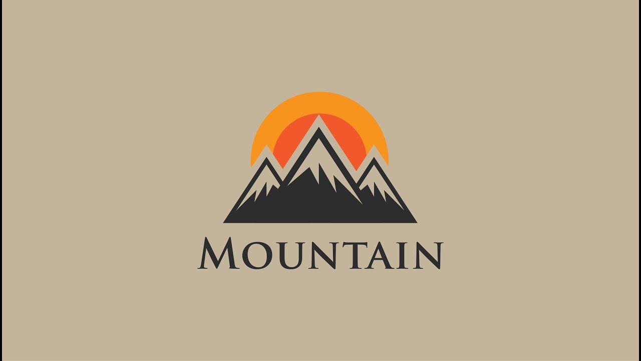 Mountain logo design tutorial - adobe illustrator - YouTube