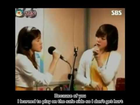 [HD] BECAUSE OF YOU by Taeyeon & Tiffany of SNSD (Lyrics)